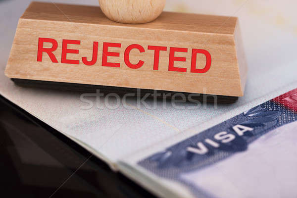 Rejected Stamp On Visa Stock photo © AndreyPopov