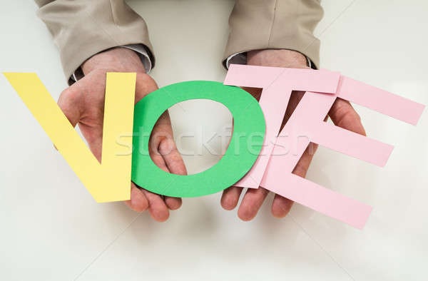 Businessperson With The Word Vote Stock photo © AndreyPopov