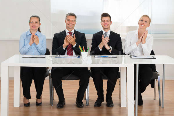 Businesspeople Applauding In Conference Stock photo © AndreyPopov