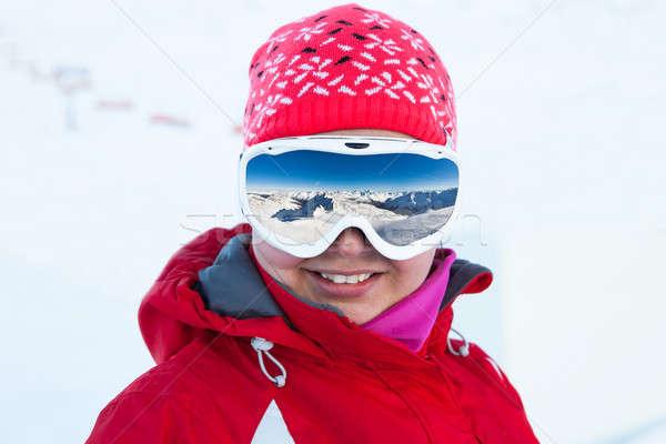 лыжник лыжных очки портрет женщины Сток-фото © AndreyPopov