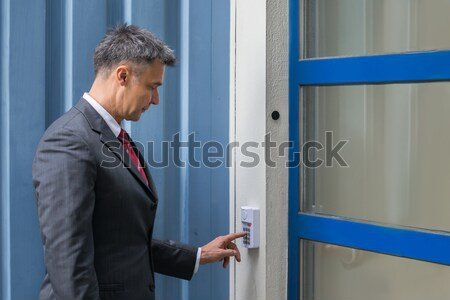 Man Inserting Ticket To Pay For Parking Stock photo © AndreyPopov