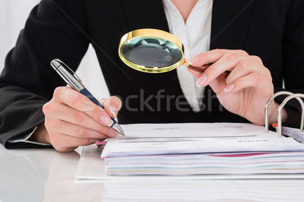 Auditor Inspecting Financial Documents Stock photo © AndreyPopov