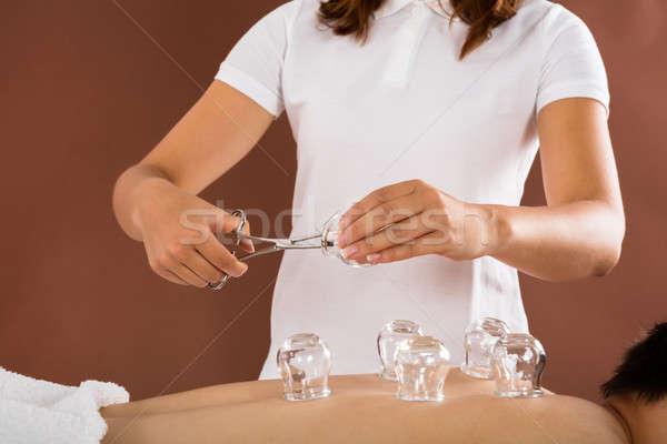 Arts therapie man spa vrouw Stockfoto © AndreyPopov