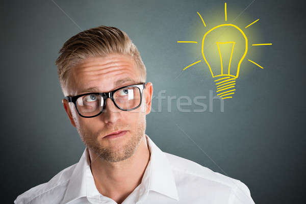 Young Man Having An Idea Stock photo © AndreyPopov