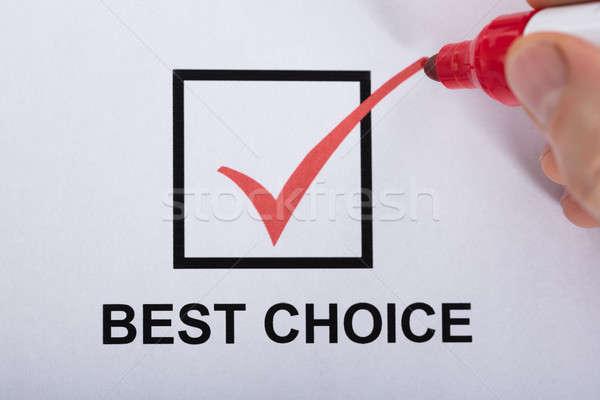 Személy legjobb választás csekk doboz opció közelkép Stock fotó © AndreyPopov