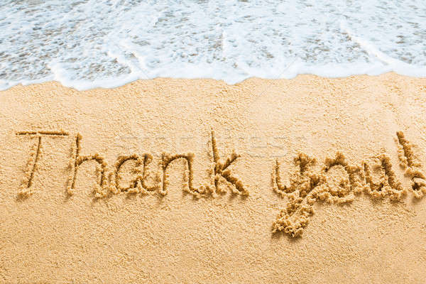 Thank You Words Written On Beach Stock photo © AndreyPopov