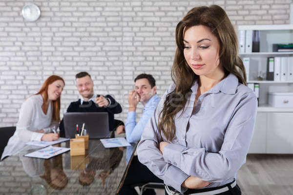同僚 笑い 同僚 オフィス 肖像 悲しい ストックフォト © AndreyPopov