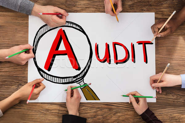 People Drawing Audit And Fraud Investigation Concept Stock photo © AndreyPopov