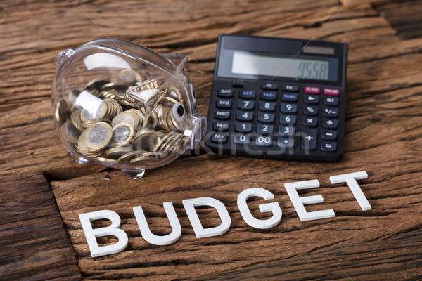 калькулятор бюджет текста таблице Сток-фото © AndreyPopov