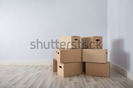 Room With Stack Of Cartons Stock photo © AndreyPopov