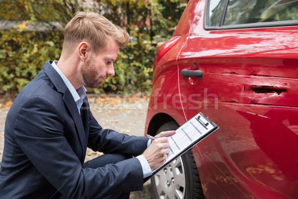 Biztosítás hatóanyag megvizsgál autó baleset ír Stock fotó © AndreyPopov