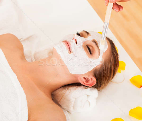 Therapist applying a face mask Stock photo © AndreyPopov