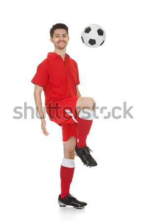 Soccer Player With Ball Stock photo © AndreyPopov