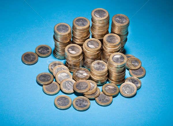 монеты синий группа успех Сток-фото © AndreyPopov