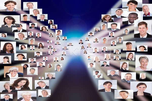 Collage gens d'affaires affaires femmes affaires Photo stock © AndreyPopov