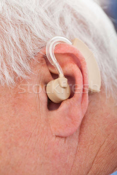 Senior Man With Hearing Aid Stock photo © AndreyPopov