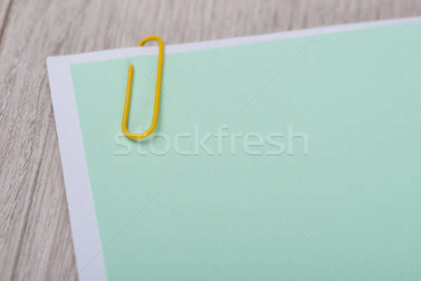 Blank Memo Note With Paperclip Stock photo © AndreyPopov