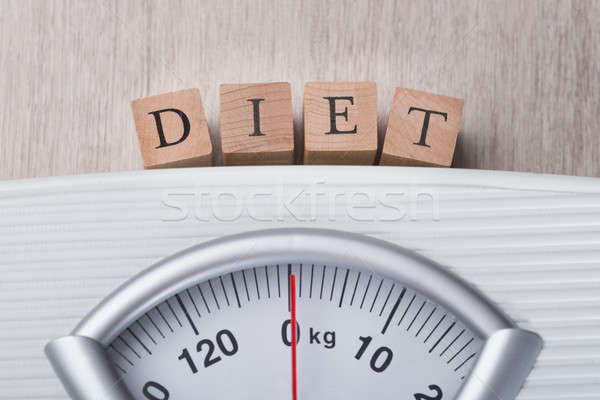 Weight Scale Indicating Diet Blocks Stock photo © AndreyPopov