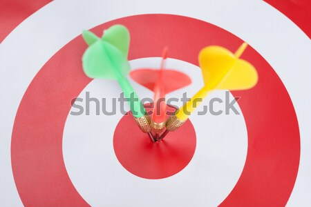 Dart On Red And White Target Stock photo © AndreyPopov