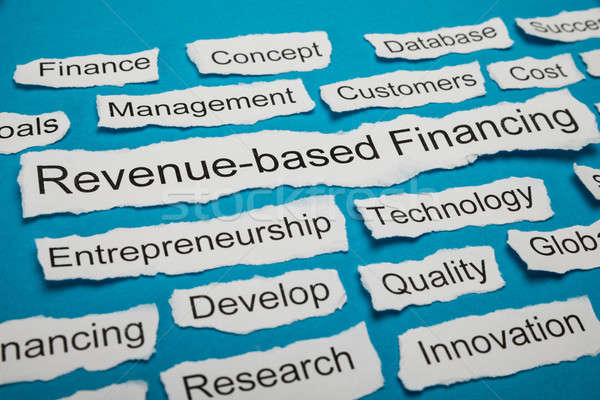 Revenue-based Financing Text On Piece Of Torn Paper Stock photo © AndreyPopov