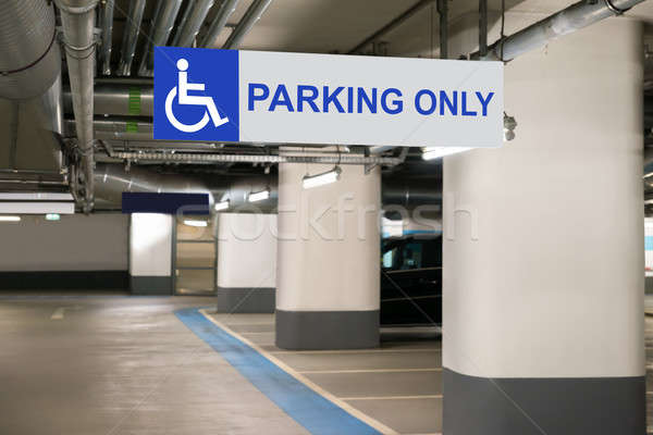 Handicap Parking Only Sign Stock photo © AndreyPopov