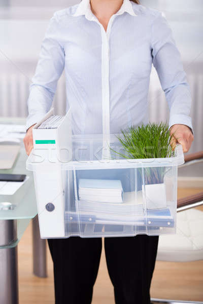 Businessperson Carrying Office Supply Stock photo © AndreyPopov