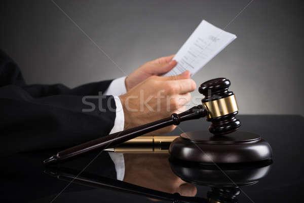 судья документа столе молоток Сток-фото © AndreyPopov