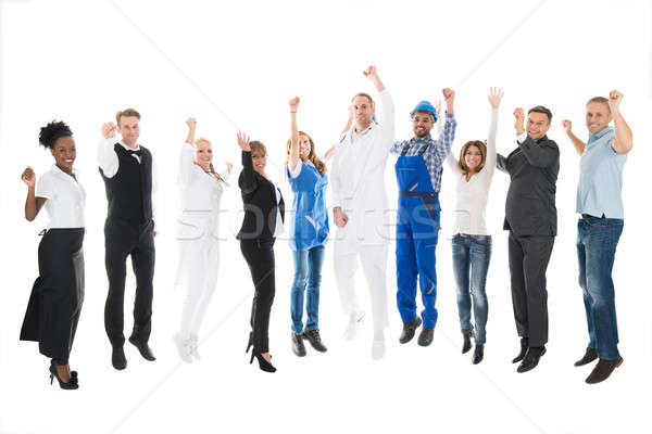 Portrait Of People With Various Occupations Cheering Stock photo © AndreyPopov