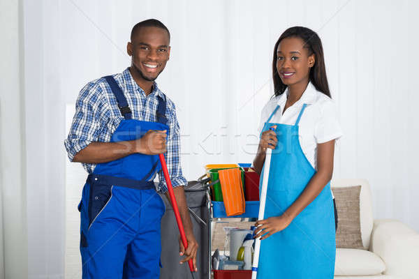 Portrait Of Male And Female Janitors Stock photo © AndreyPopov