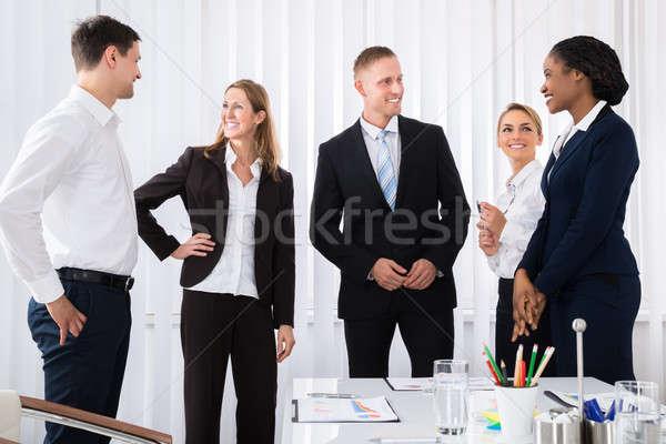 разговор счастливым успешный служба заседание Сток-фото © AndreyPopov