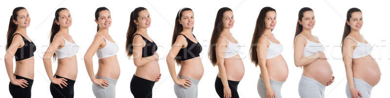 Woman With Different Stages Of Pregnancy Stock photo © AndreyPopov
