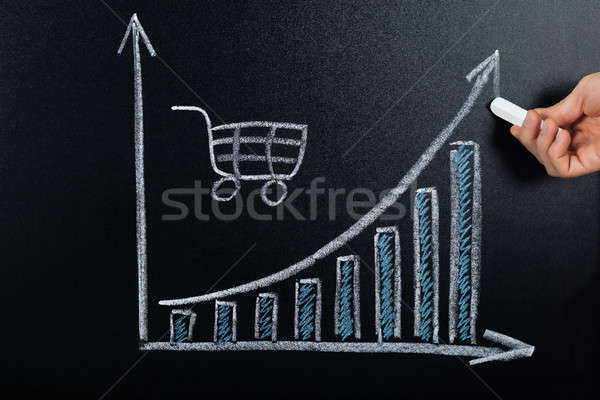 E-commerce Concept Drawn On Blackboard Stock photo © AndreyPopov