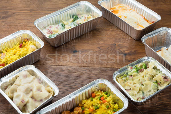 Take Away Food In Foil Containers Stock photo © AndreyPopov