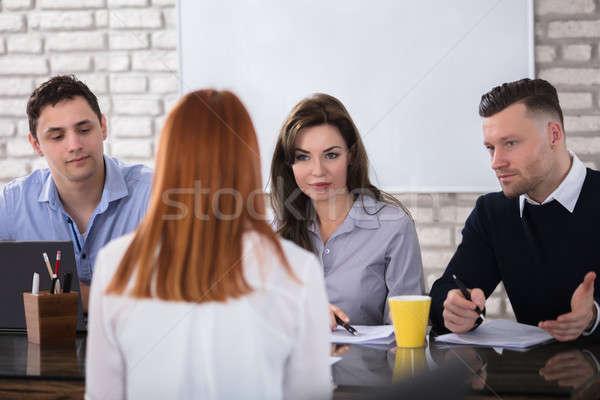Entrevista de emprego mulher reunião lei grupo Foto stock © AndreyPopov