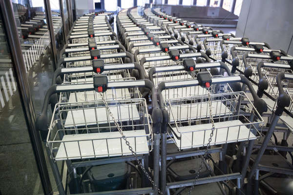 View of luggage carts in row at airport Stock photo © AndreyPopov