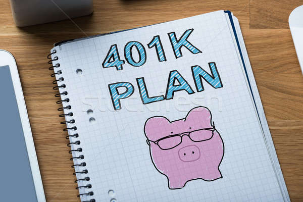 Sketched 401k Pension Plan With Piggybank Stock photo © AndreyPopov