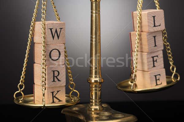 Zdjęcia stock: Sprawiedliwości · skali · pracy · życia