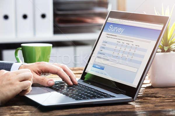 ビジネスパーソン 充填 を 調査 フォーム ノートパソコン ストックフォト © AndreyPopov