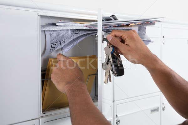 Zdjęcia stock: Strony · litery · poczty