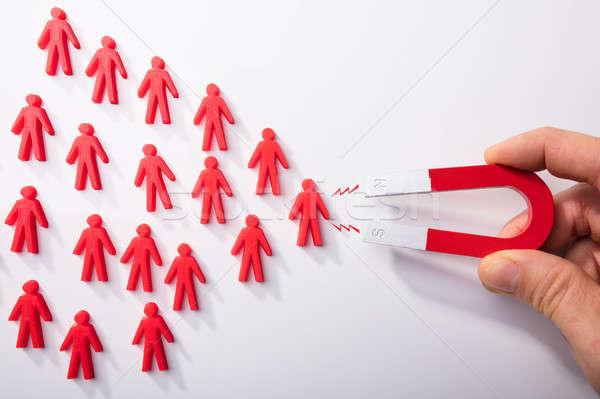 人の手 人間 馬蹄 磁石 クローズアップ 赤 ストックフォト © AndreyPopov
