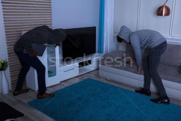 Due scassinatore rubare cose casa notte Foto d'archivio © AndreyPopov