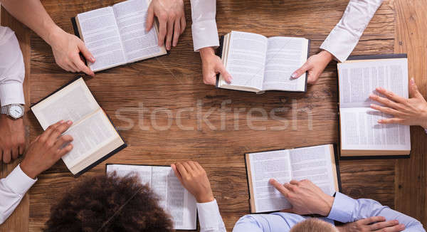 People Reading Holy Books Stock photo © AndreyPopov