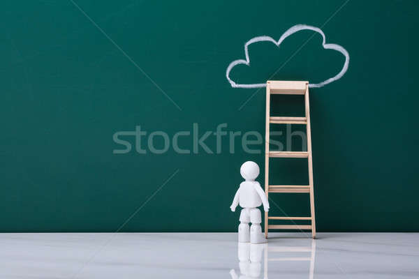 Human Figure Standing Near Ladder Stock photo © AndreyPopov
