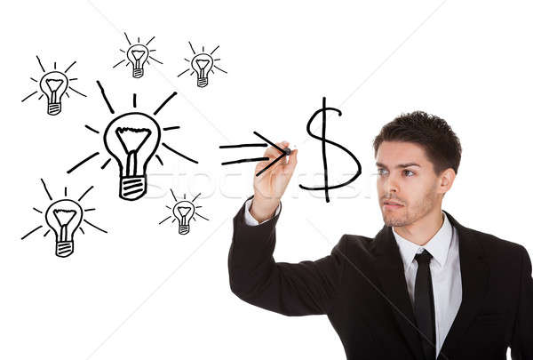Convert ideas into cash concept Stock photo © AndreyPopov