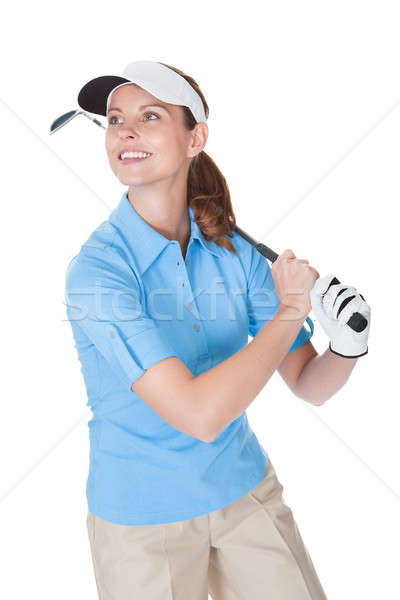 Golfer with a golf club Stock photo © AndreyPopov