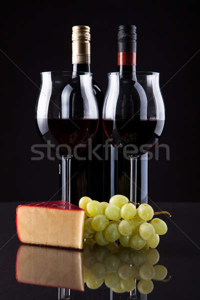 Still Life Of Wine Grapes And Cheese Stock photo © AndreyPopov