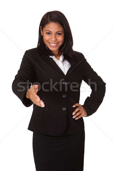 Business Woman Extending Her Hand To Handshake Stock photo © AndreyPopov
