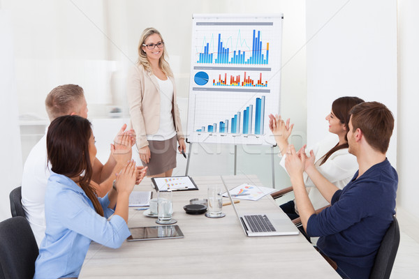 Businesspeople Clapping For Female Colleague After Presentation Stock photo © AndreyPopov