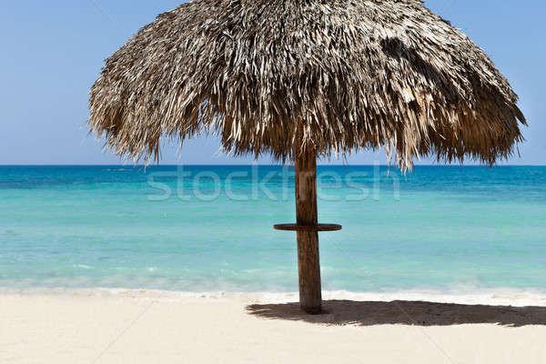 サンシェード ビーチ 美しい 海 表示 ストックフォト © AndreyPopov