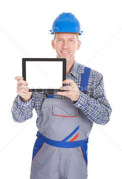 Stock photo: Architect Showing Digital Tablet